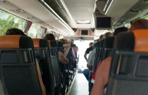 View inside passenger bus