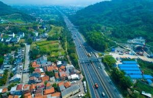Jakarta Bandung High Speed Train Tunnel: Aerial View
