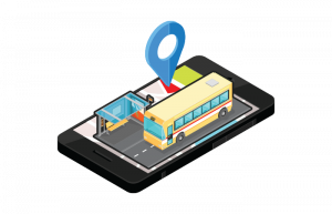 Bus station route locator