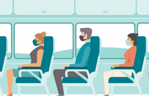 Wearing Surgical masks while traveling in bus is another safety measure that can be taken