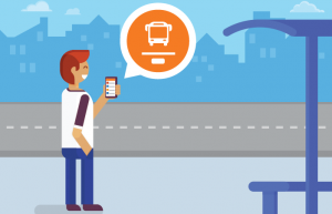 Bus Tracking system enables passengers to stay on bus stop and track their bus position